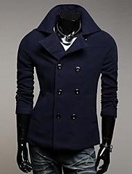 Uomo Men's Lapel Double-Breasted Coat