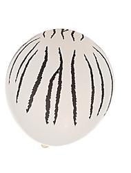 striscia nera palloncini tondi di spessore - set di 24