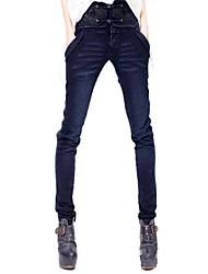 Frauen `s Stickerei Skinny Jeans