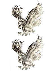 1pc Bald Eagle Animal Waterproof Body Art Tattoo Pattern Temporary Tattoos Sticker(18.5cm*8.5cm)