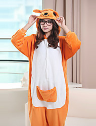 Impertinente canguru amarelo Fleece Polar Unisex Kigurumi pijamas dos desenhos animados Pijamas animal Halloween Costume