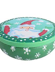 alegre de Papá Noel lata redonda caja de navidad recibir latas