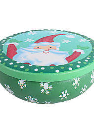 allegro Babbo Natale scatola rotonda latta natale riceve lattine