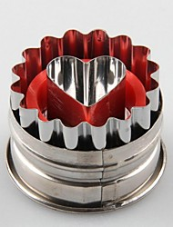 Heart Shaped Spring Type Embossing  Cookie Mould(More Colors)