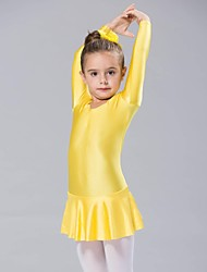 Kids' Dancewear Dresses Women's / Children's Spandex 1 Piece Yellow