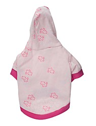 Cat / Dog Hoodie Pink Dog Clothes Spring/Fall Cartoon