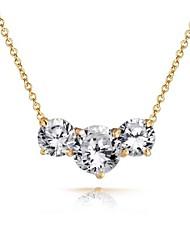 круглый ожерелье CZ для женщин (больше цветов)