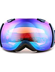 BASTO Windproof Navy Blue Frame Mirror Lens Skiing Snow Goggles