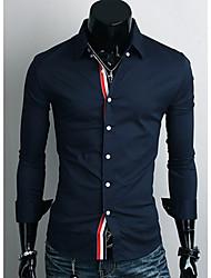 Rate Männer Slim Fit Langarm-Shirt