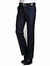 Men's Solid Work Suits,Polyester Black / Blue / Gray
