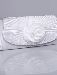 sac à main en satin élastique de mariage avec rosette florale (plus de couleurs)