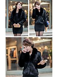 Manches longues oreiller parti / occasionnel de veste en fausse fourrure (plus de couleurs)