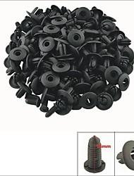 a0067 100 unidades do carro do painel interior clipes guarnição rebite plástico preto