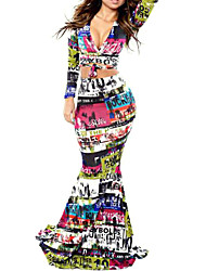 Women's New Hot Sexy Fashion  Printing Long Suit (Shirt&Skirt)