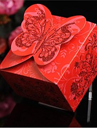 Butterfly Cardboard Favor Bags For Wedding  Set of 50