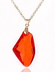 collar de piedra roja de manera concisa de las mujeres (1ps)