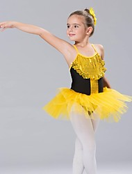 Kids' Dancewear Tops / Tutus / Dresses / Skirts Children's Cotton / Spandex / Tulle Ballet Sleeveless