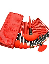 Professional Brush Set with 24Pcs Brushes and Red Bag
