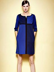 elegante vestido de color de contraste de k.dama mujeres