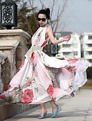 Messic Women's Ruffle Print Dress