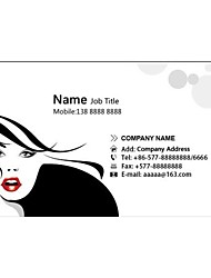 Personalized Business Cards 200 PCS Classic White Pattern 2 Sided Printing of Fine Art Filmed Paper