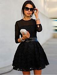 Coco Zhang mulheres todos combinando um vestido de linha lace