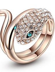 Women's Roxi Exquisite Rose-Golden Blue Eyes Snake Wedding Rings(1 Pc)