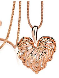populaire cristal Hallow coeur collier long de Viva femmes