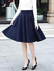 la jupe en tweed de couleur unie des femmes (plus de couleurs)