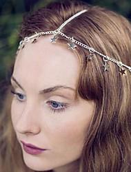 уличной моды оснастки пятиугольник серебряный сплав ювелирные изделия волос (1шт)