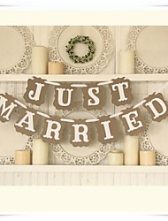 "Wedding Décor Chic Shabby Kraft Paper "" JUST MARRIED"" Popular  Banner Buntings"