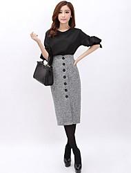 moda elegante gonne di tweed delle donne