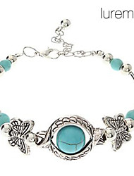 Vintage Bohemian Style Butterfly Turquoise Bracelet Jewelry