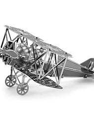 Zoyo diy modelo de corte laser 3d educativo fokker-d vii estilo biplano rompecabezas nano metálico