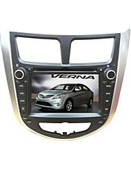 La radio del coche del receptor DVD 2DIN 7inch hyundai para hyundai accent verna solaris reproductor de dvd con bluetooth swc