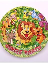 Grade A - jungle party supplies bande dessinée assiettes en papier jetables fête d'anniversaire dîner assiettes à dessert 12 pièces