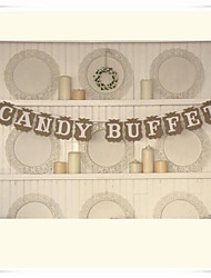 "Popular"" CANDY BUFFET"" Wedding Dessert Table Party Banner Sign Decor"