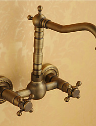 Deck Mounted Single Handle One Hole with Antique Bronze Kitchen faucet