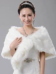 Fur Wraps Elegant Fox Tail Winter Faux Fur Wedding Wrap Bridal Faux Fur Cape Bolero Ivory Bolero Shrug