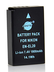 DSTE 7.4V 1900mAh EN-EL20 Li-ion Battery for Nikon J1 1J1 J2 J3 Camera