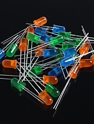 Diodes électroluminescentes 5mm 60pcs (vert + bleu + orange)