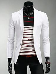 moda causal cor sólida fino blazer terno homens martin