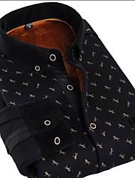 Men's Horse Figure Printing Business Shirt