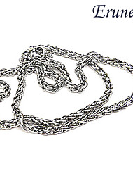 Long Polycyclic Men'S Titanium Steel Necklace
