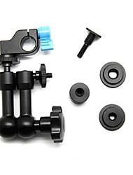 """Pappel einstellbar 7 """"Metall magische Arm und Mini 1/4 Gewinde Aluminiumlegierung 15 mm Stangenklemmhalter für Kamera"""
