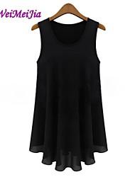 weimeijia® además de las mujeres tallas de ropa básica gasa sin mangas