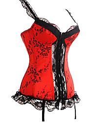 Women's Fashion Sexy Condole Belt Red Lace of Corsets