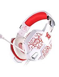 ogni cuffia G1100 cablata 3,5 millimetri in materia di gioco orecchio luce respirazione vibrazione con microfono per pc
