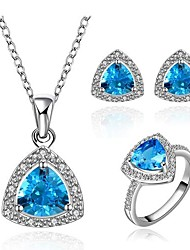Women's Classical Blue Zircon Jewellery Set (1Set)