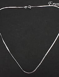 chapado en plata eruner®unisex aleación collar de cadena no.15